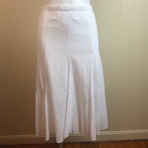 Vintage 80s/90s White Cotton Broomstick Skirt